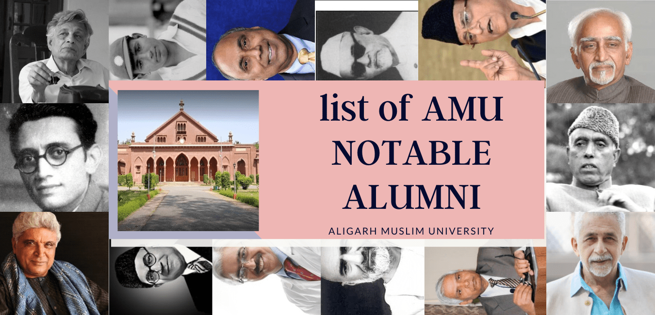 List AMU NOTABLE ALUMNI