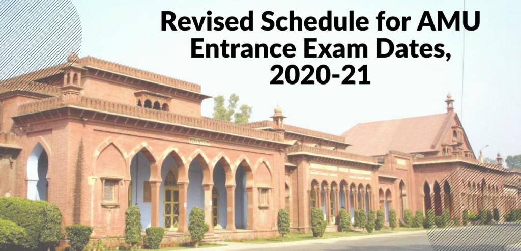 AMU Entrance Exam Date 2020-21