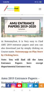 amu 2019-20 entrance papers
