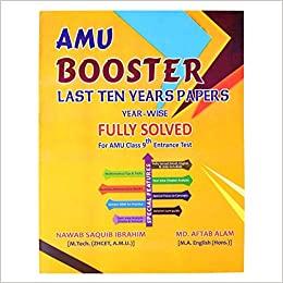 AMU BOOSTER(YEARWISE) FOR AMU CLASS 9 2020 ENTRANCE Paperback – 1 January 2019