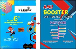 Combo offer The Conceptum Class 6th Entrance Examination Test Guide AMU Booster for AMU Class 6th year-wise Last 10 Years Fully Solved Papers Paperback 1 January 2019