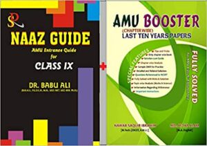 Set of 2 Class 9 Naaz Guide + AMU Booster Class 9 (Chapter Wise) Last ten Year Fully Solved Paper Paperback Bunko – 1 January 2018