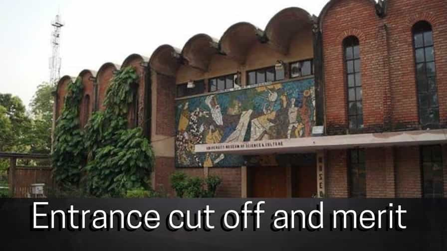 amu entrance cut off and merit image