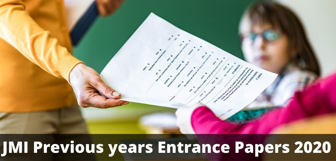 JMI Previous years Entrance Papers 2020
