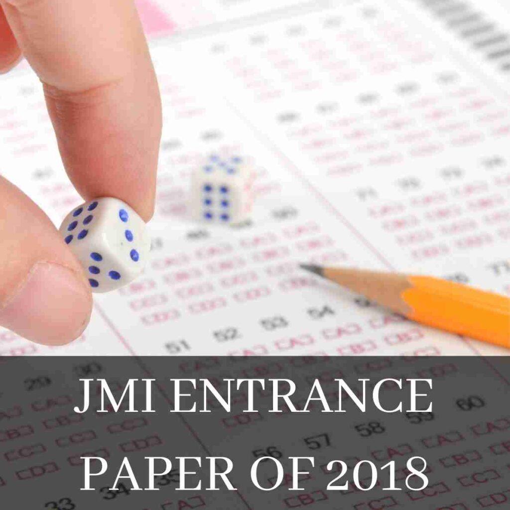 JMI Entrance Paper of 2018