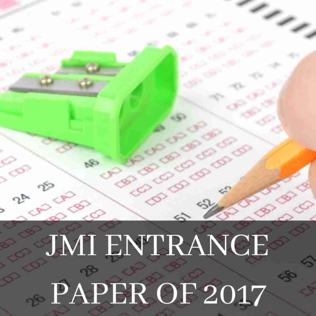JMI Entrance Paper of 2017